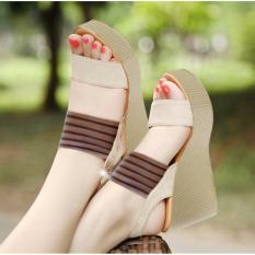 Ellen Grosir Wedges Venezia - Cream