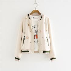 Embroidery Brief Paragraph Long Sleeve Short Coat Female Women's Clothing, Female Students Of New Fund Of 2016 Autumn Coat Jacket Baseball Uniform - Intl