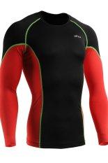 Emfraa Men's Compression Base Layer Premium Shirts Under Training Top (Black / Green)