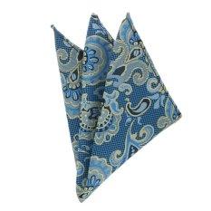 EOZY Men's Elegant Business Pocket Square Fashion Big Flower Design Pocket Square - Blue - Intl - Intl