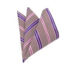 "EOZY Men's Elegant Business Pocket Square Fashion Stripe Design Pocket Square A€"" Pink"