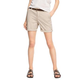 Esprit Light Stretch Twill Shorts With Belt Light Beige - Daftar Update Harga Terbaru Indonesia