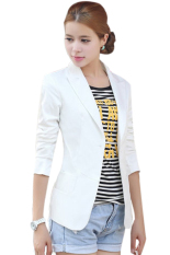 European Style OL Wear To Work Stylish Suit Jacket Coat (White)