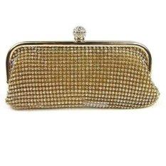 Evening Party Crystal Bag Handbag Gold