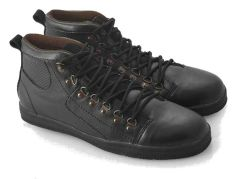 Everflow RE 9000 Sepatu High Cut Sneakers Pria - Synth - Tpr - Gaya Dan Stylish - Black