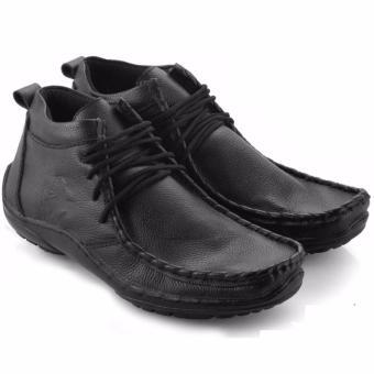 Harga Everflow Sepatu Boots Pantofel Casual Pria - Kulit - Brown ... f4b6c97ee1