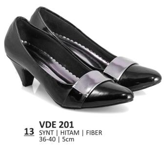 Everflow Sepatu Formal Wanita Heels VDE 201 5CM - Synthetic - Hitam