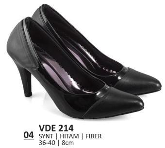 Everflow Sepatu Formal Wanita Heels VDE 214 - Synthetic - Hitam