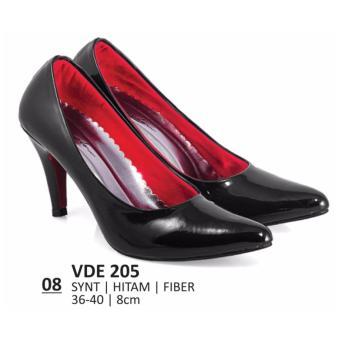 Everflow Sepatu Pantofel Wanita / Sepatu Kerja Wanita / Sepatu Kantor / Sepatu High heels Everflow VDE 205 Heels 8cm Hitam