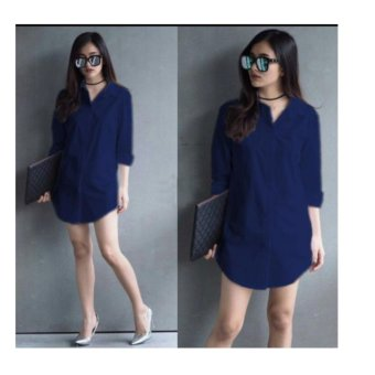 F Fashion Tunik Wanita Shinta - Navy