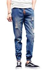 Fanco Men's New Stylish Comfortable Slim Fit Jogger Harem Pants (Blue) - Intl