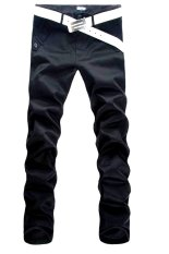Fanco New Men's Stylish Slim Fit Straight Leg Casual Jeans Trousers Black - Intl