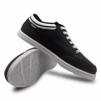 Fans Mulo BW Sepatu Sekolah Kasual Anak dan Dewasa - Hitam-Putih