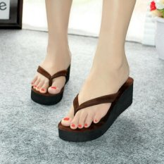 Fasahaya Sandal Wedges Spon SDW17 Cokelat