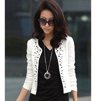 Fashion Baru Korea Perempuan Wanita Lengan Setelan Panjang Baju JasAnd Blazer Itu Bang Pendek Bahu Jaket