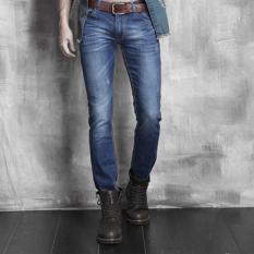Fashion Casual Mens Stylish Designed Straight Slim Fit Jeans (Blue) (Intl) - Intl