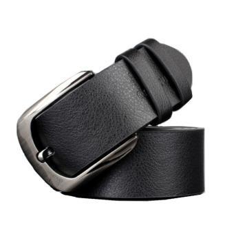Fashion Chic Men Business Casual Belt Leather Waist Belt Waistband Black