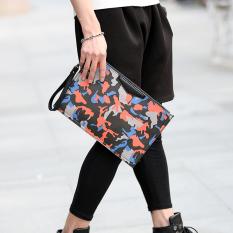 Fashion Clutch Brand Design Korean New Hand Bag Unisex Leisure Clutch Cool Small Bag -Red