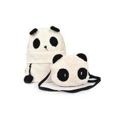 Fashion Cute Women Girl Panda Mother & Baby Shoulder Backpack Handbags Bag Set