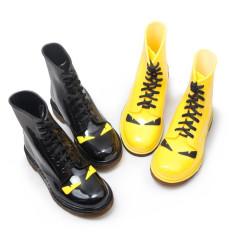 Fashion Martin Boots Hujan Wanita Tahan Air Rainshoes Sepatu Salju (Kuning)