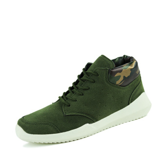Fashion Men Sneakers Casual Sport Shoes Men's Trainers Suede Sneakers (Green) - Intl