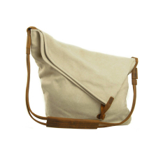 Fashion Men's Women Canvas Shoulder Crossbody Messenger Bag (Beige)