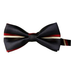 Fashion Rayon Bow Tie Grid Men And General Neckties Tie Black + White + Red