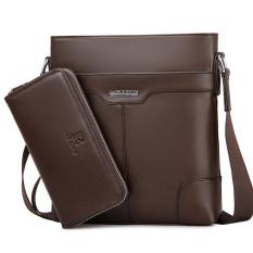 Fashion Shoulder Bag Messenger Mens Business Casual Fashion Vertical Crossbody Bag Tote Bag (Brown Big Size)