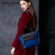 Fashion Small Size Genuine Leather Shoulder Bag Handbag Women Messenger Bags Belt Bag Tas (Blue)