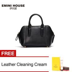 Fashion Small Size Shell Bag Women Genuine Leather Handbag Shoulder Bags (Black) [Buy 1 Get 1 Freebie]