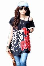 Fashion Summer T-Shirt Ladies Women O-Neck Short Sleeve Print Loose Cool Casual Mini Dress A3