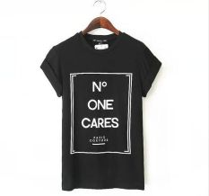 Fashion Women Casual Blouse Short Sleeve Shirt T-shirt Summer Blouse Tops S-XL L1070-Black (Intl)