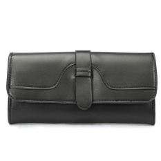 Fashion Women Lady Leather Clutch Wallet Long Card Holder Case Handbag Purse NEW Black - Intl