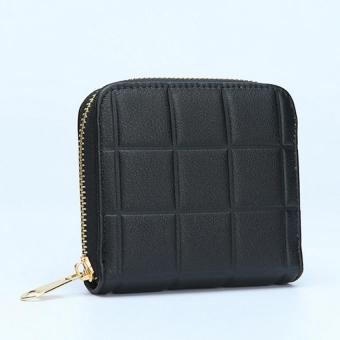 Fashion Women PU Leather Clutch Wallet Long Card Holder Case Purse Handbag Black