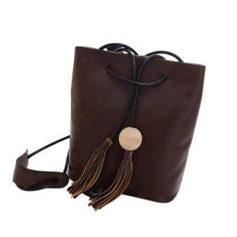Fashion Women PU Leather Satchel Handbag Shoulder Tote Messenger Crossbody Bag Dark Brown