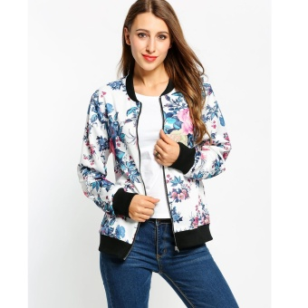 ... WANITA BEST SELLER HIJAU ARMY. Source · Fashion Women Stand Collar  Floral Zip Up Casual Slim Bomber Jacket - intl 1feca09d26