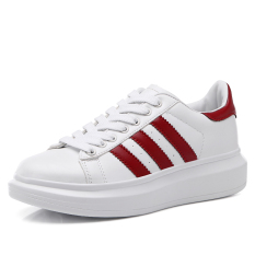 Fashion Women's Lace-up Sneakers Sports Running Shoes Red (Intl)