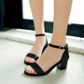 Femine - Sepatu Sandal High Heel Wanita Jaz J01 - Hitam