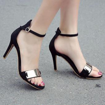 Femine - Sepatu Sandal High Heel Wanita KAY - Hitam