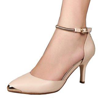 Femine - Sepatu Sandal High Heels Wanita SDH 24 - Krem