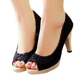 Femine - Sepatu Sandal High Heels Wanita SDH 28 - Hitam