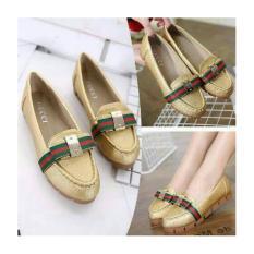 Harga Grivera Sepatu Wanita Flat Shoes Laser MY81 Tan PriceNia com Source Flat .