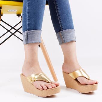 Flip Flops Wedge Sandals PK11 - Gold
