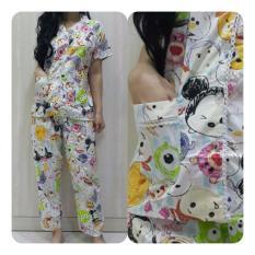 Fortune Fashion Baju Tidur Wanita Tsum - Tosca