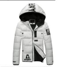 Free Shipping Outwear Men's Short Down Jacket Winter Slim Thickened Hooded Jacket Fashion Men's Short Coat White