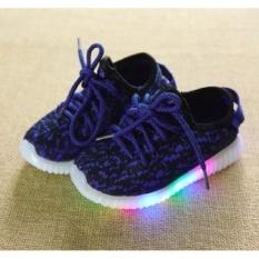 Freeshop Model Sepatu Lampu Anak Kasual S264 - Blue