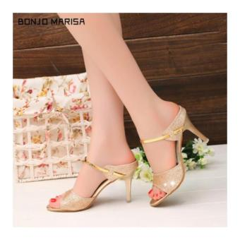 Fuboshoes Sepatu Wanita High Heels Riesta Gold