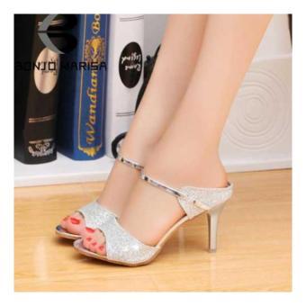 Fuboshoes Sepatu Wanita High Heels Riesta Silver