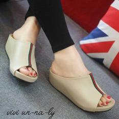 Fuboshoes Sepatu Wanita Wedges Sandrina Cream