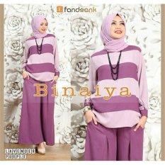 Gamis / Baju / Setelan Wanita Muslim Binaiya Syari Lavender
